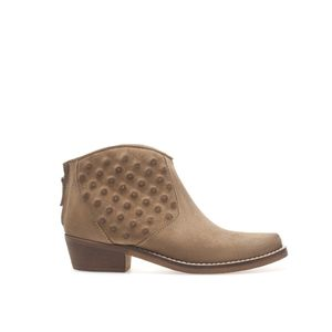 Zara Suede Booties with studded details